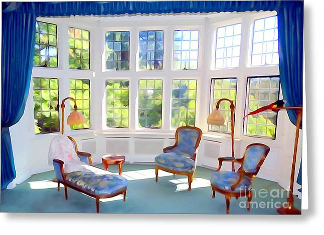 The Sitting Area Greeting Card by Ed Weidman
