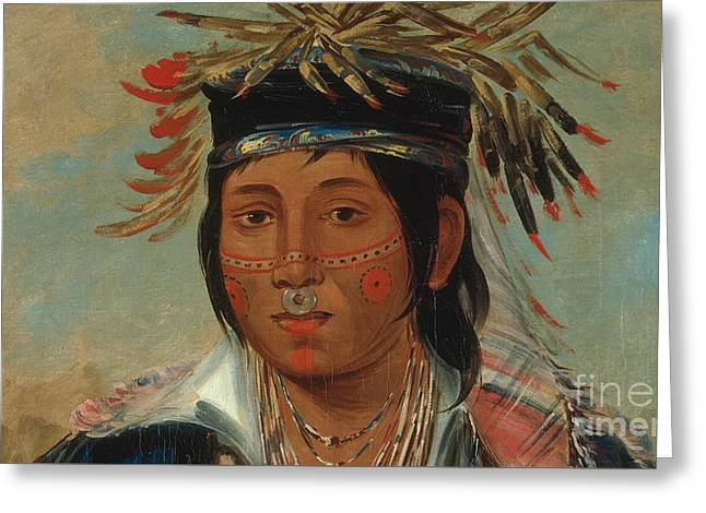 The Six Chief Of The Plains Ojibwa George Greeting Card by MotionAge Designs