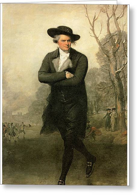 The Skater Portriat Of William Grant Greeting Card by Gilbert Stuart