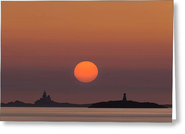 The Skerries Lighthouse  Greeting Card by Andy Astbury