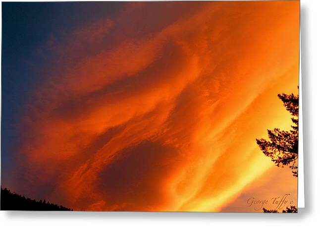 The Sky Is Burning Greeting Card