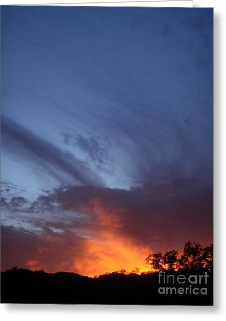 The Sky Is On Fire  Greeting Card by Cullen Knappen