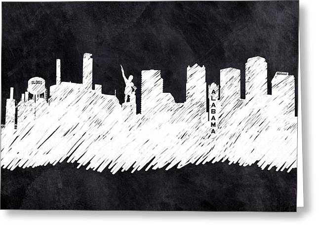 The Skyline - Birmingham - Alabama Greeting Card by Mark Tisdale