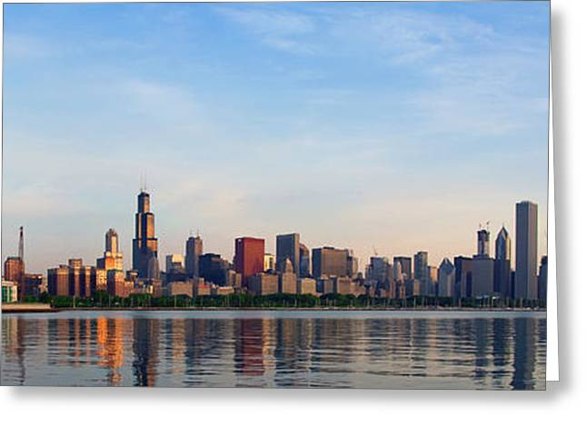 The Skyline Of Chicago At Sunrise Greeting Card