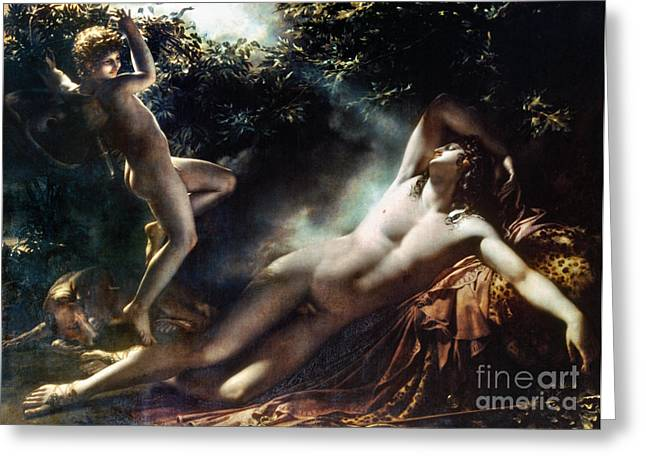 The Sleep Of Endymion Greeting Card by Granger