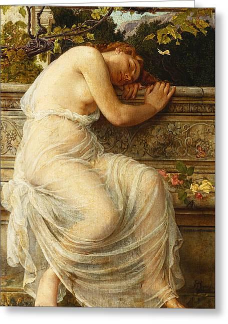 The Sleeping Girl Greeting Card