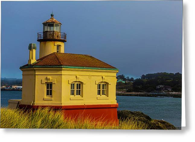 The Small Coquille River Lighthouse Greeting Card by Garry Gay