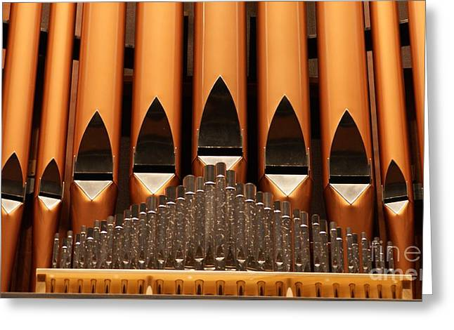 The Small Wall Organ Pipes...   # Greeting Card