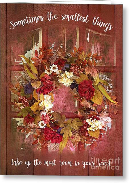 Greeting Card featuring the digital art The Smallest Things 2017 by Kathryn Strick