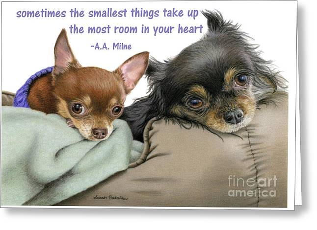 The Smallest Things Greeting Card