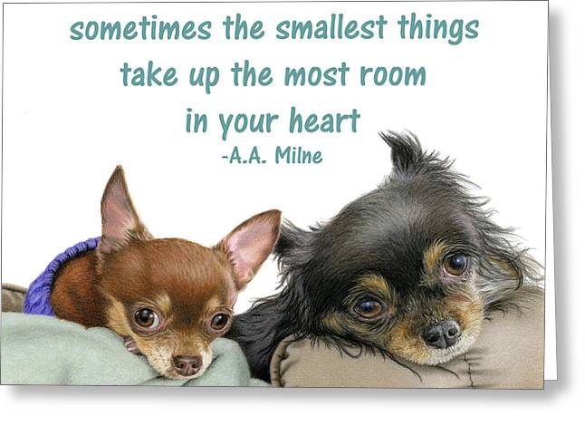 The Smallest Things Square Format Greeting Card