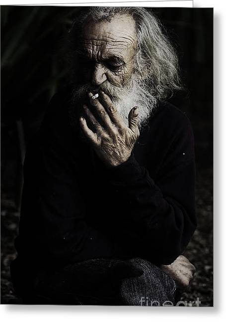 The Smoker Greeting Card by Avalon Fine Art Photography
