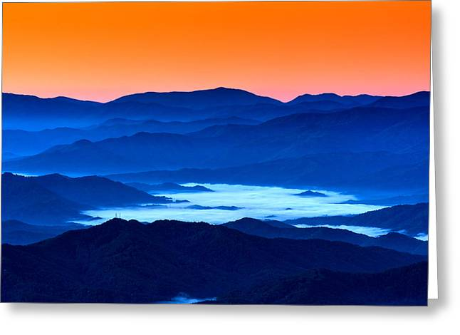 The Smokies Before Dawn Greeting Card