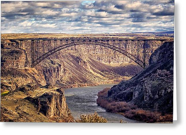 The Snake River At Twin Falls Idaho Greeting Card by Michael Rogers