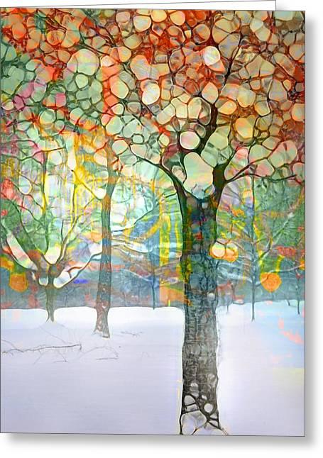The Snow At Skaha Greeting Card by Tara Turner
