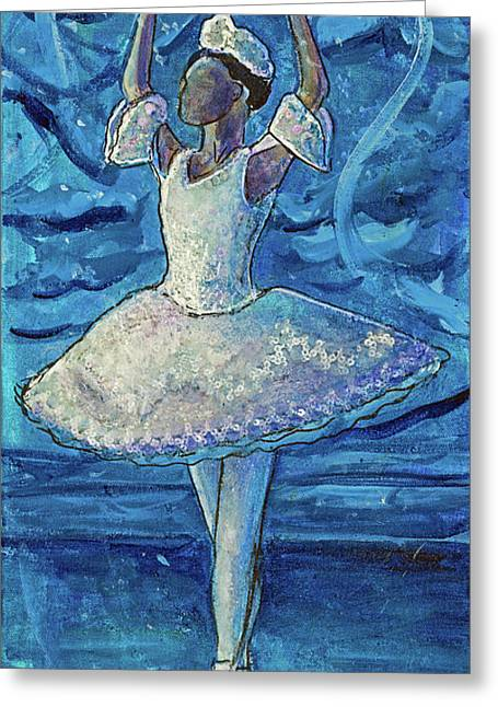 Greeting Card featuring the painting The Snow Queen by TM Gand