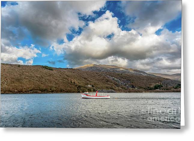 The Snowdon Star  Greeting Card by Adrian Evans