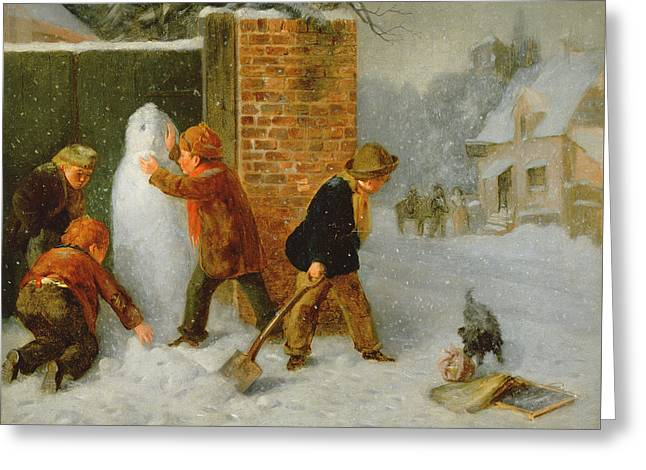The Snowman Greeting Card by Edward Charles Barnes