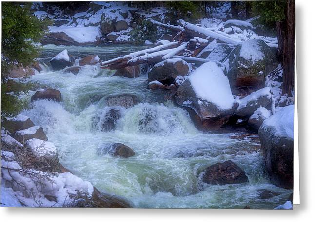 The Snowy Merced River Greeting Card