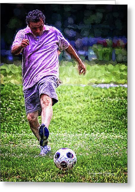 The Soccer Player Greeting Card