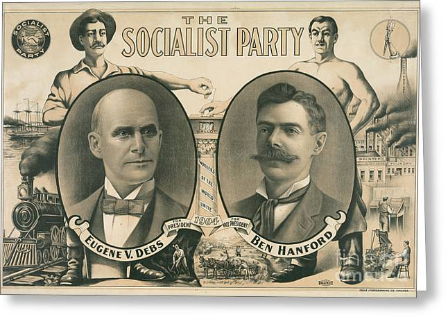 The Socialist Party Presidential Ticket Of 1904 Greeting Card