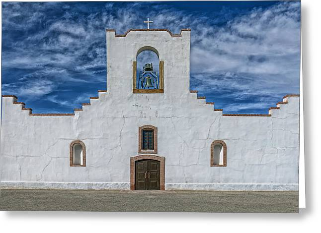 The Socorro Mission Of El Paso Greeting Card
