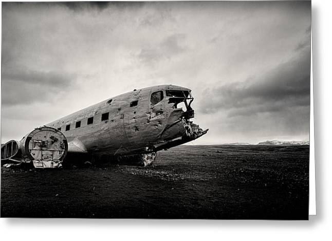 The Solheimsandur Plane Wreck Greeting Card