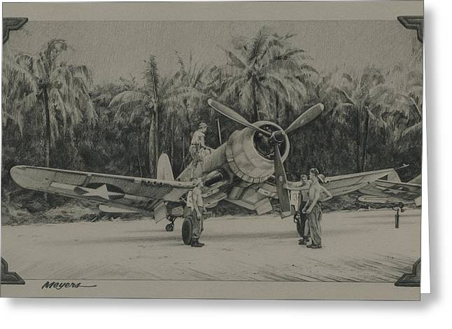 The Solomons 1943 Greeting Card by Wade Meyers