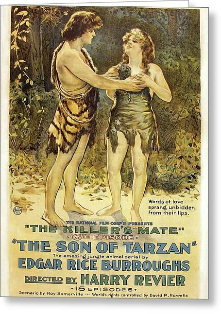 The Son Of Tarzan - The Killer's Mate 1921 Greeting Card