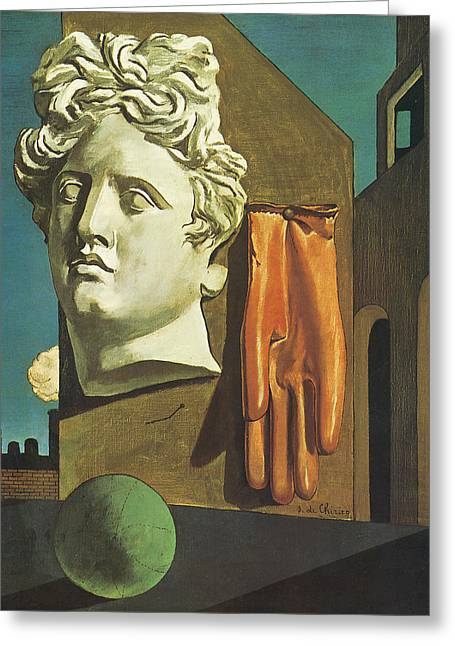 The Song Of Love Greeting Card by Giorgio de Chirico