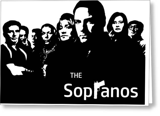 The Sopranos Poster Greeting Card