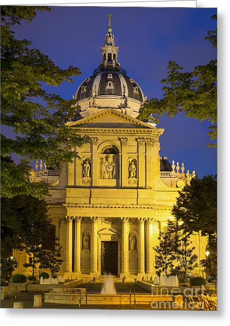 The Sorbonne - Paris Greeting Card by Brian Jannsen