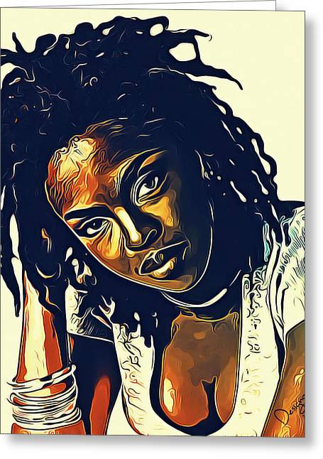 The Soul Of Lauryn Hill Greeting Card
