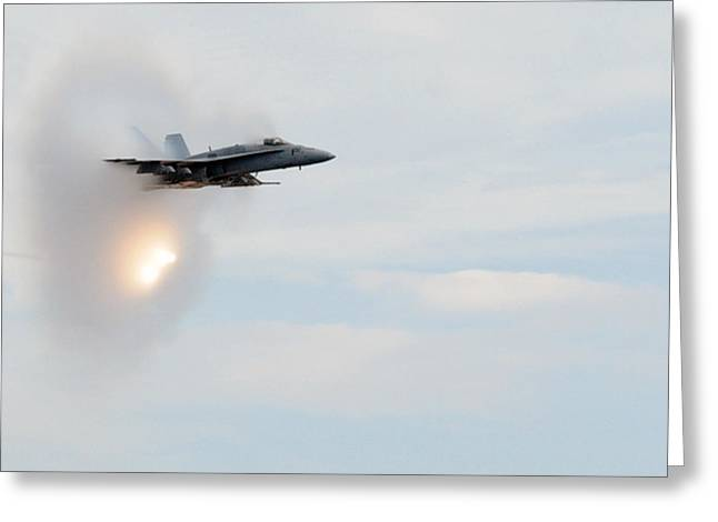 Cvn-69 Greeting Cards - The Sound Barrier Greeting Card by Aviation Heritage Press