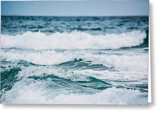 The Sound Of Crashing Waves Greeting Card by Shelby Young