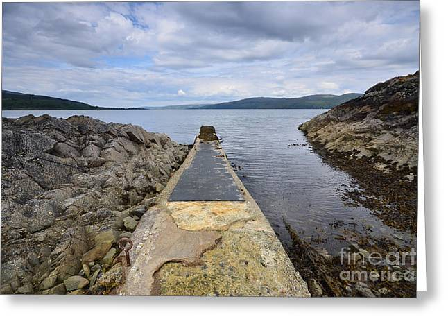 The Sound Of Mull Greeting Card by Nichola Denny