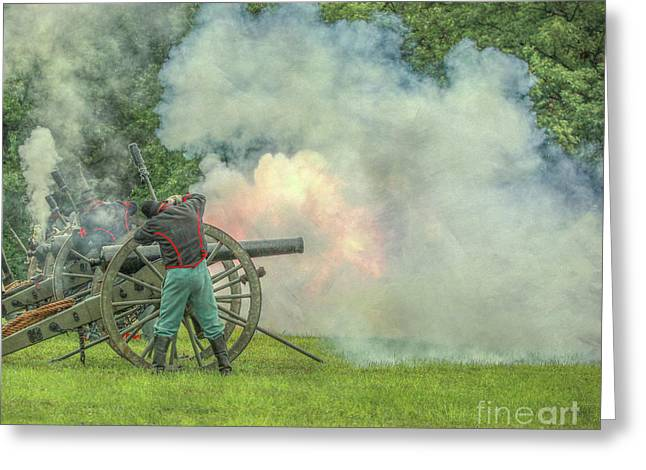 The Sound Of The Cannon Greeting Card by Randy Steele