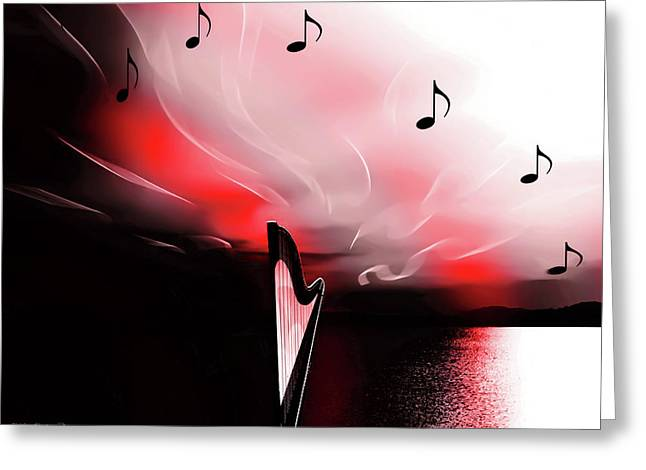 The Sounds Of Sunset Greeting Card