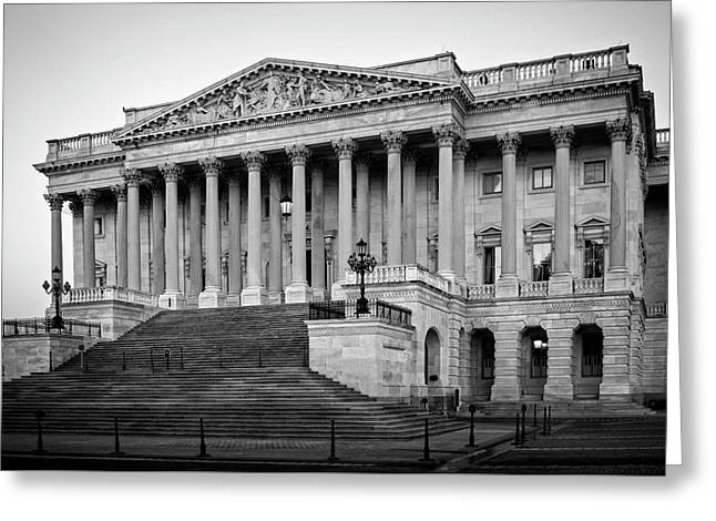 The South End In Black And White Greeting Card by Greg Mimbs