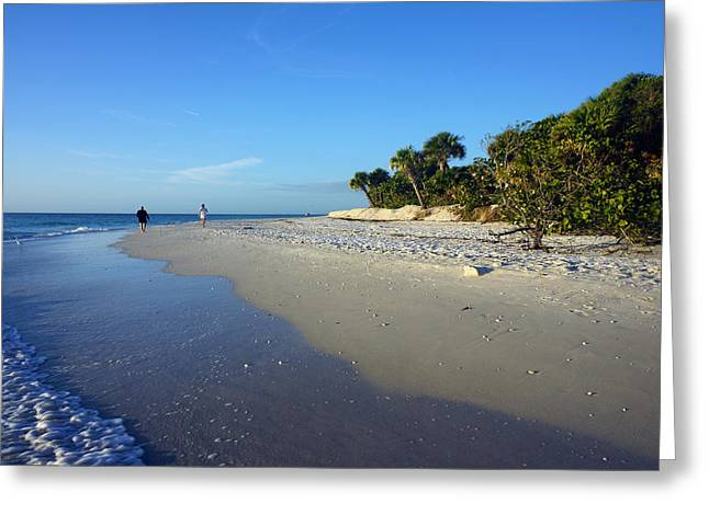 The South End Of Barefoot Beach In Naples, Fl Greeting Card