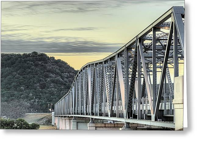 The South Llano River Bridge Greeting Card by JC Findley