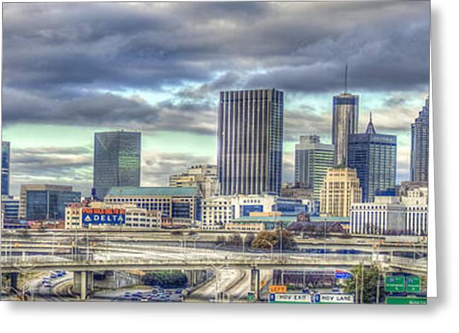 The Southern Lady Atlanta Art Cityscape  Greeting Card