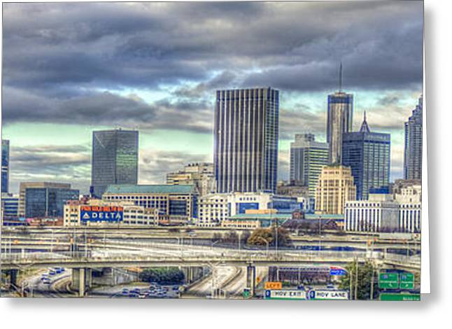 The Southern Lady Atlanta Art Cityscape  Greeting Card by Reid Callaway