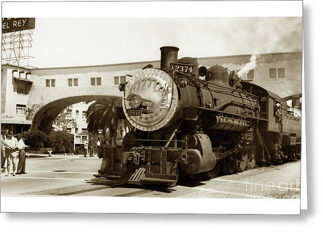 The Southern Pacific's Santa Cruz Suntan Special Circa 1947 Greeting Card