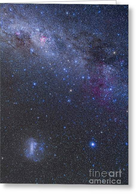 The Southern Sky And Milky Way Greeting Card by Alan Dyer