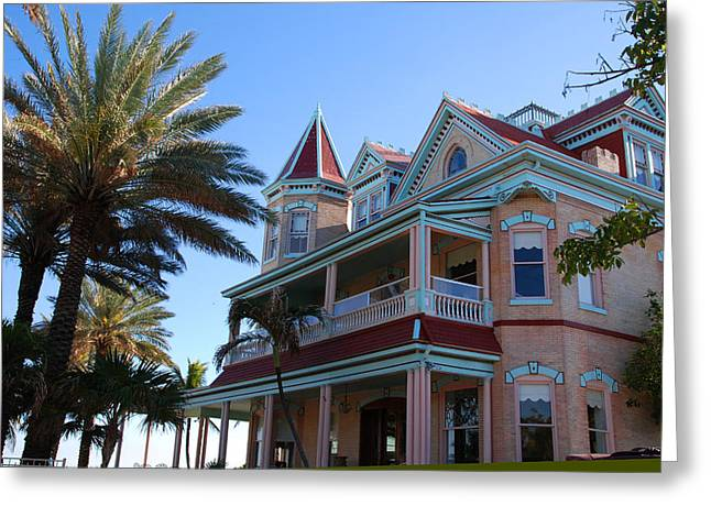 The Southernmost House In Key West Greeting Card by Susanne Van Hulst