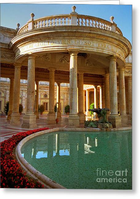 Greeting Card featuring the photograph The Spa At Montecatini Terme by Nigel Fletcher-Jones
