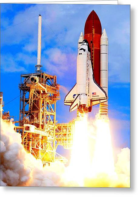 The Space Shuttle Discovery Sts-120 Greeting Card