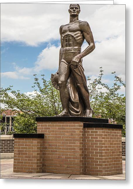The Spartan Statue - Michigan State University Greeting Card