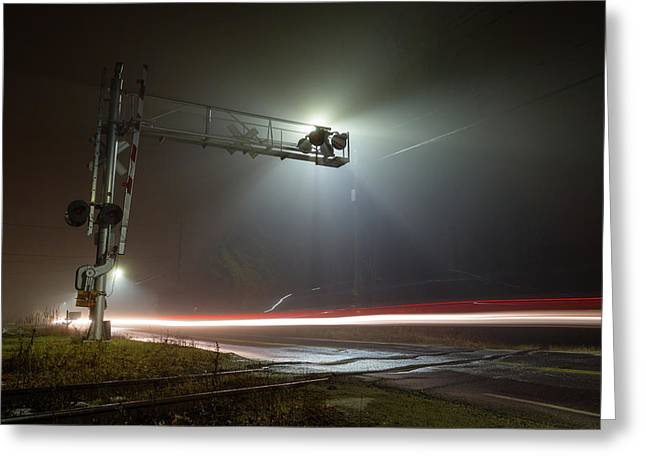 Greeting Card featuring the photograph The Speed Of Light by Brian Hale